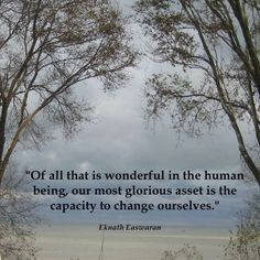 ... glorious asset is the capacity to change ourselves.