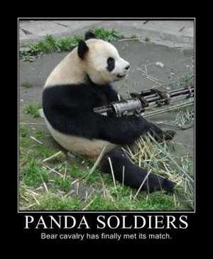 Panda Soldiers Funny Motivational Poster