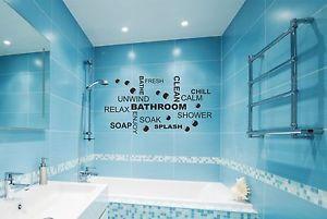 Bathroom-Wall-Quote-Stickers-Vinyl-Art-Decals-decor-transfer-Toilet ...