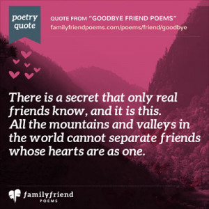 Goodbye Friend Poems