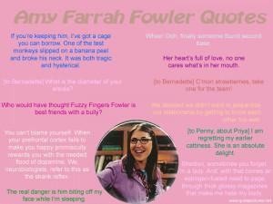 Amy Farrah Fowler Quotes LOL
