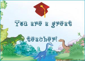 Teacher Appreciation Quotes Thank You Cute dinosaurs teachers