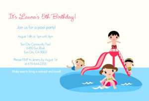 Splish Splash Pool Party Invite