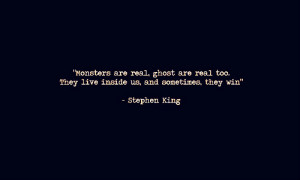 inner demons #stephen king #marialia #quote