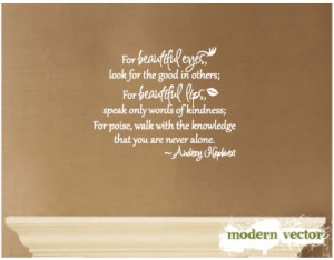 Details about Audrey Hepburn Quote Livingroom Bed Vinyl Wall Decal