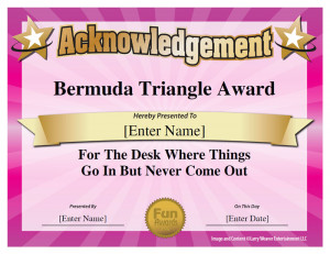 Sample Funny Employee Certificates 101 In All Plus 7 Award Templates