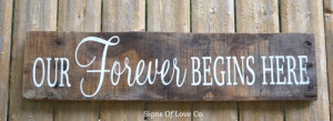 ... Barn Beach Country Love Quote Reclaimed Pallet Wood Signs Our Forever