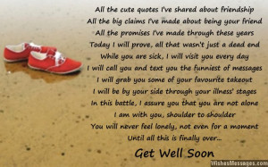 Get Well Soon Quotes Poems