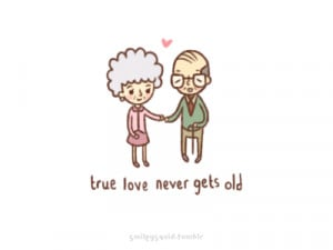smileysquid:I saw this cute elderly couple at the park earlier today ...