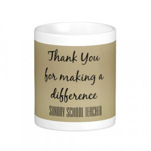 Thank You Sunday School Teacher Mugs | Zazzle
