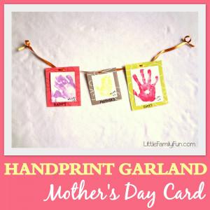 Handprint Garland Mother's Day Card