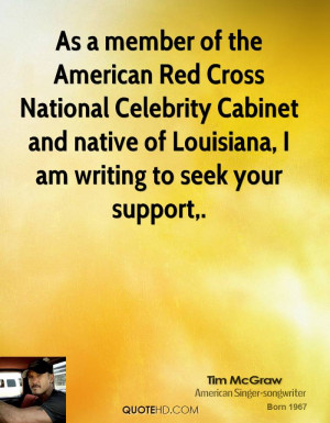 As a member of the American Red Cross National Celebrity Cabinet and ...
