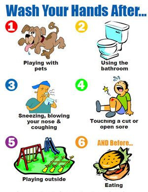 Post this to remind kids when to wash their hands.: Teaching ...