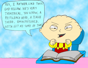 Stewie Griffin on GOD by strongbadian