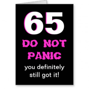 Funny 65th Birthday Card for Women