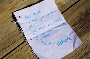 Dear Darla...