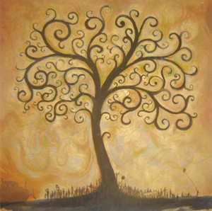 Tree of Life painting by Tim Parish
