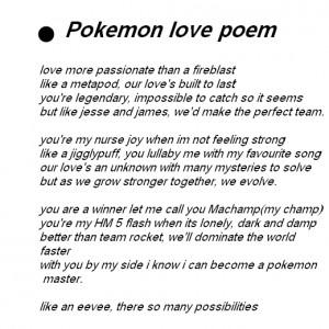 Pokemon love poem an pokemon love quotes.