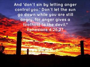 Ephesians 4:26,27