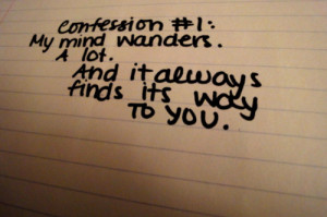 always, confession, emotion, freedom, handwriting, love, mind, one ...