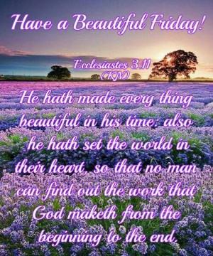 Friday blessings...