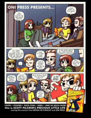 ... book even came out, with an ad for Scott Pilgrim's Precious Little