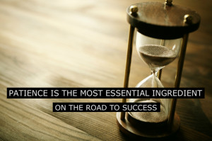 Patience Is The Most Essential Ingredient On The Road To Success