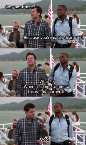 Shawn Spencer - burton guster - Gus - Psych - shawnspencerquotes