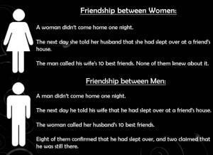 Friendships between men and women