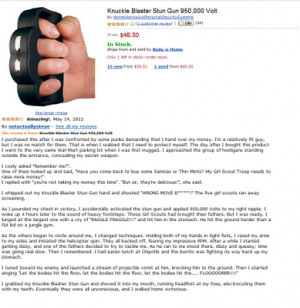 knuckle blaster stun gun review