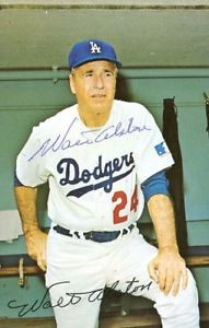 WALTER ALSTON Dodgers Legend BB HOFer Autographed