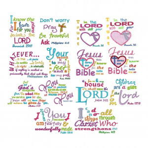 Bible verses subway art heavenly inspirations set 1 machine embroidery ...