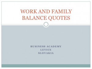 balancing work and family quotes