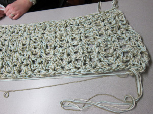 Kendra joined us and resumed work on her very first crochet project. I ...