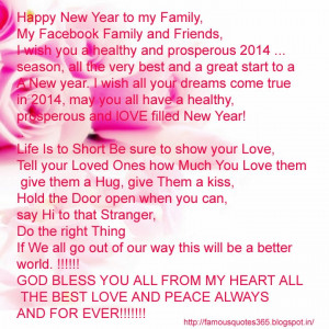 Happy New Year my Facebook friend and family