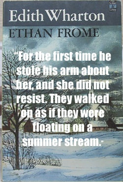 Quote from Ethan Frome by Edith Wharton. Read a review at http ...