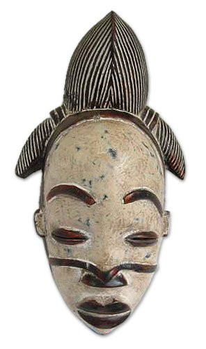 ... Africa wood mask, 'Punu Beauty' - Hand Made Gabonese Wood Mask