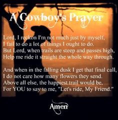 cowboy s prayer more prayer prints quotes praying cowboys cowboys ...