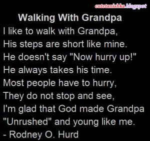 Walking With Grandpa | Grand Father Quotes in English