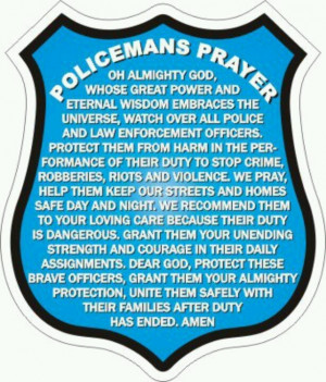 Enforcement Prayer, Inspiration Ideas, Fallen Police Officer Quotes ...