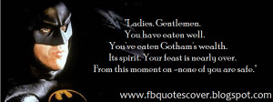 BATMAN Quote Cover Photos