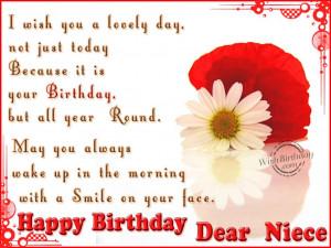 Happy Birthday Quotes For Niece ~ Birthday Wishes for Niece - Birthday ...