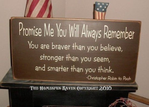 Christopher Robin quote sign
