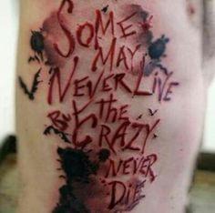 Joker Quote Tattoo More