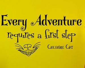 ... Cheshire Cat Sayings Sticker Vinyl Decals Wall Decor Murals Z329