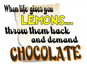 Funny Chocolate Quotes...