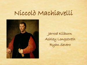 Niccolo Machiavelli The Art Of War Quotes Niccol machiavelli jarrod ...