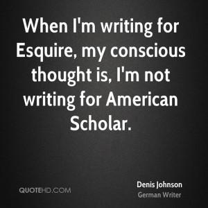 Denis Johnson Quotes