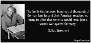 The family ties between hundreds of thousands of German families and ...