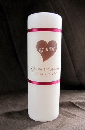 ... the unity candle set an ivory lightly scented center candle includes